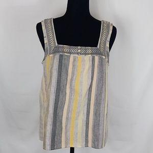 NWT- Lucky Brand Sleeveless blouse. Size SP